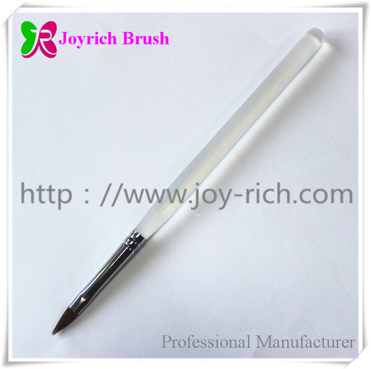 JRS2--Transparent acrylic handle kolinsky hair 3D nail brush