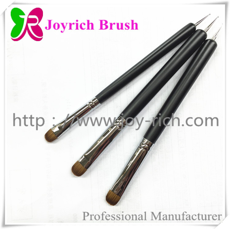 JRF3--Black wooden handle french nail brush