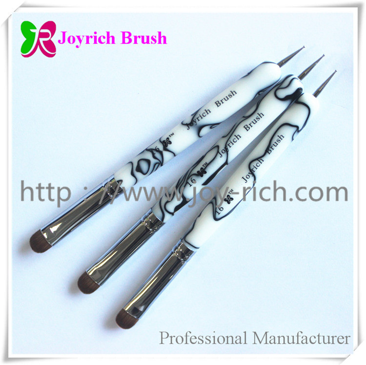 JRF5--White acrylic handle french nail brush