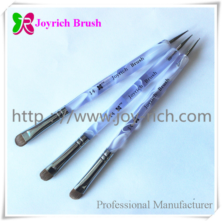 JRF6--Purple acrylic handle french nail brush
