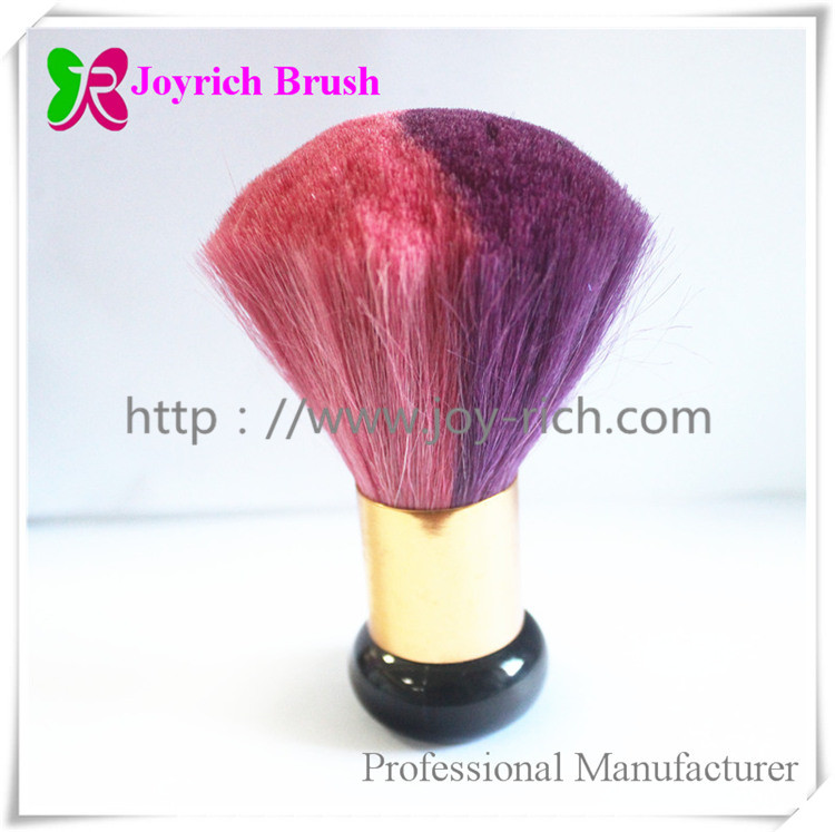 JRDU02--Double colours goat hair nail dust brush
